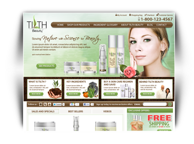 Sneak Peak At The Latest Skin Care Website Design Project By Illumination Consulting