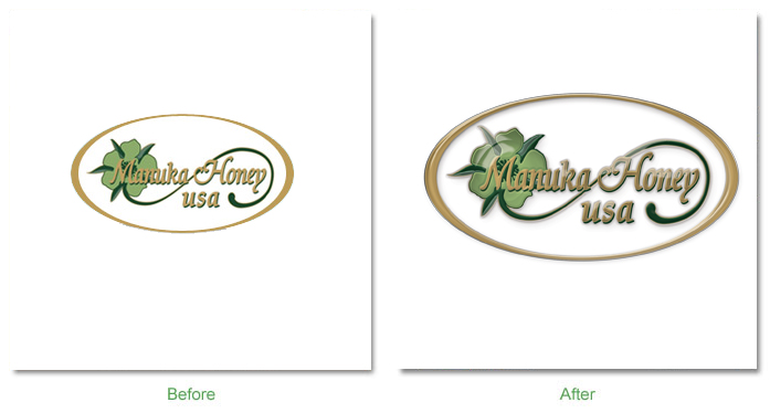 Manuka Honey USA logo before after Before and After