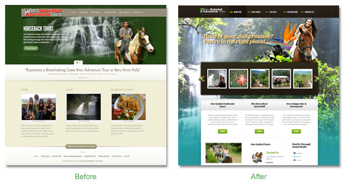 baru website Before and After
