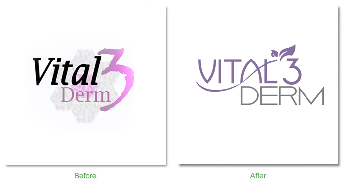 before after vital3derm Before and After
