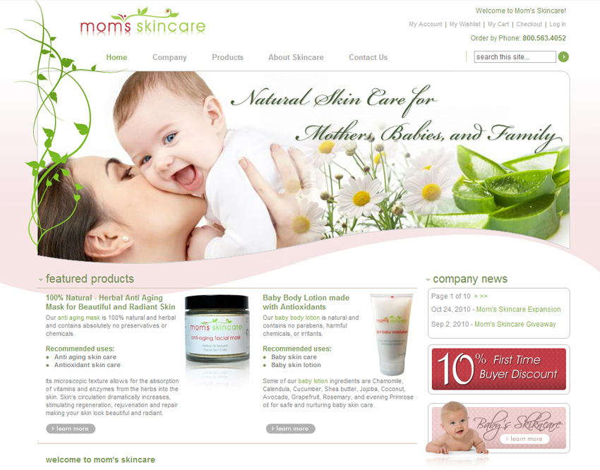 skin-care-website-design