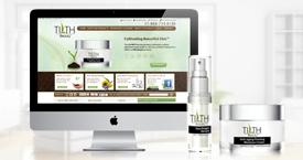 skin care website design