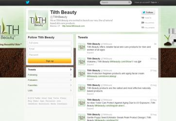 Social Media Customization Twitter Tilth Beauty