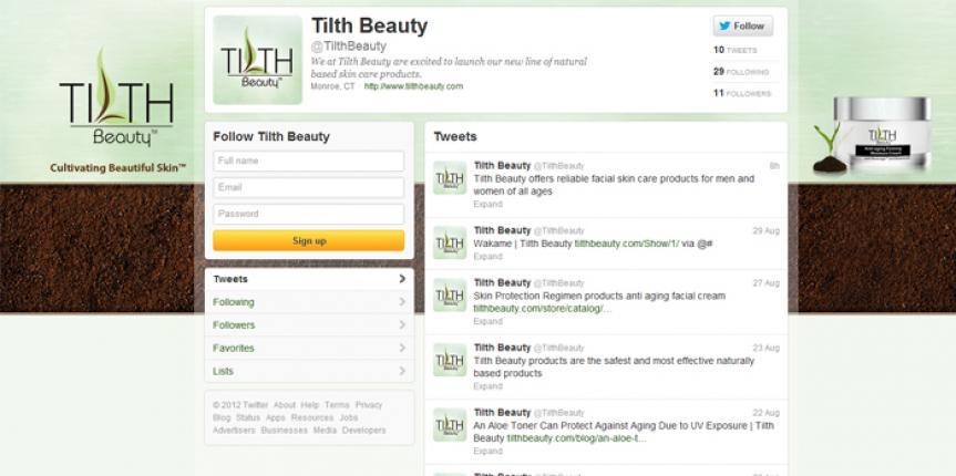 Social Media Customization Twitter Tilth Beauty