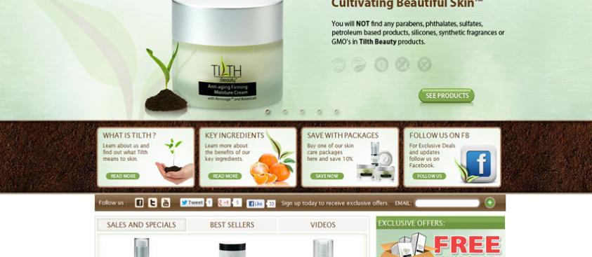 Tilth Beauty Website