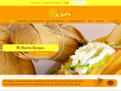 MiHuerta Authentic Mexican Products E-Commerce Store