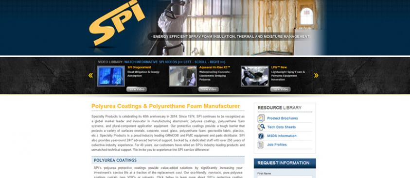 Specialty Products Website Upgrade