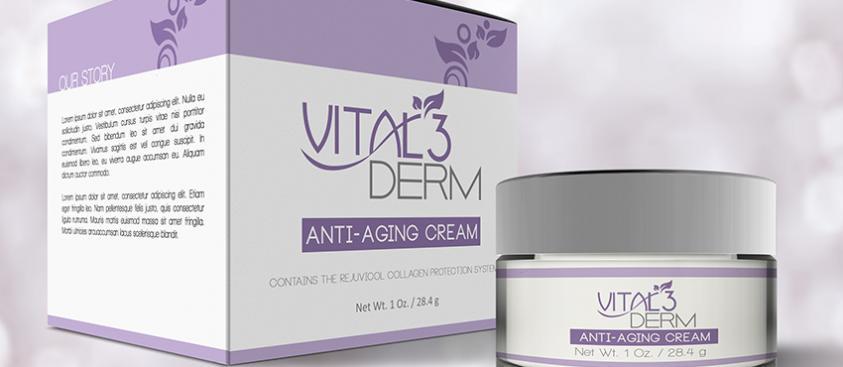 Vital3Derm Packaging Design