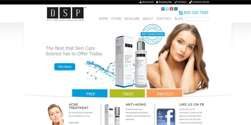 DSP Skincare Website
