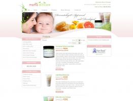 E-Commerce Skin Care Website Design Mom's Skincare