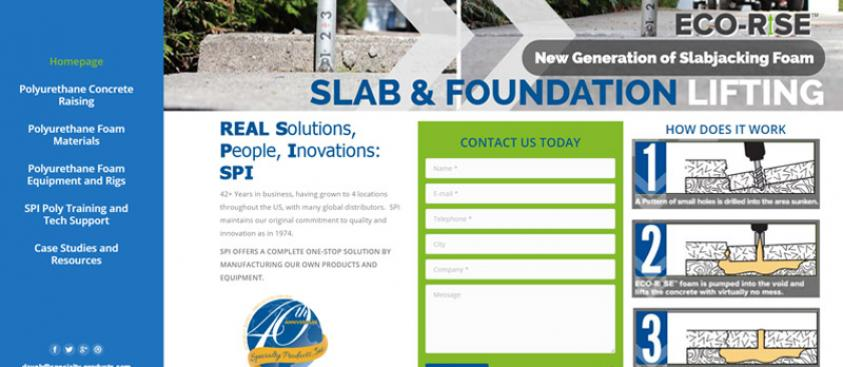 Concrete Slab Lifting Website