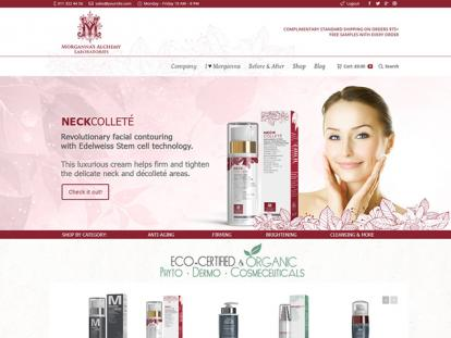 Morganna's Alchemy Skin Care Website