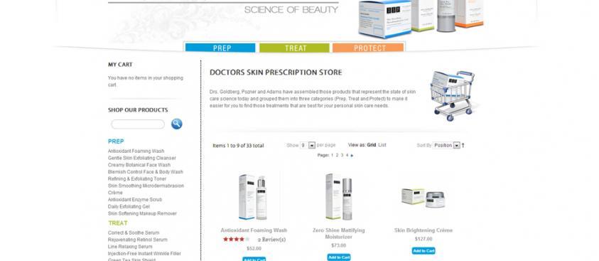 Skin Care Storefront Design Doctors Skin Prescription