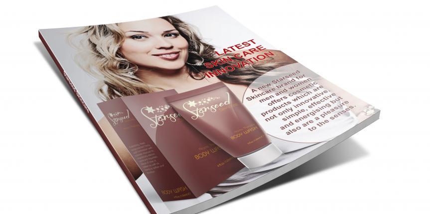 Magazine Print Ad Design Starseed Skincare