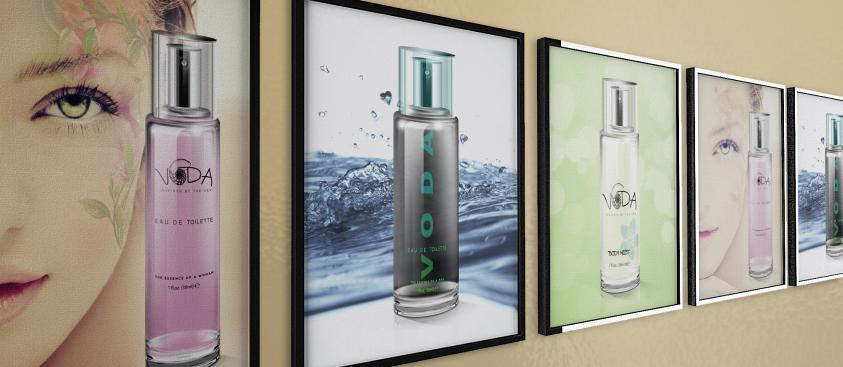 Print Advertising Design VODA Skincare Posters
