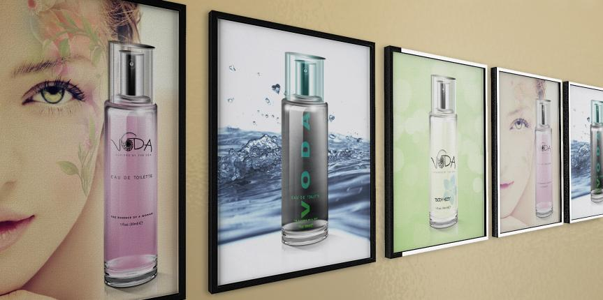 Print Advertising Design VODA Skincare Posters