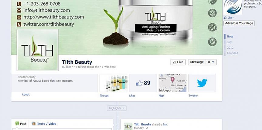 Social Media Customization Tilth Beauty Skincare