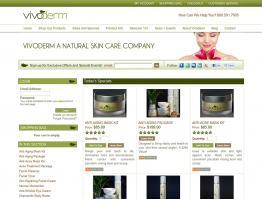 Storefront Design Skin Care Brand Vivoderm